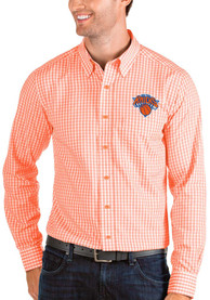 Antigua New York Knicks Orange Structure Dress Shirt