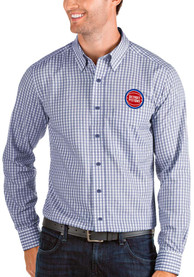Detroit Pistons Antigua Structure Dress Shirt - Blue