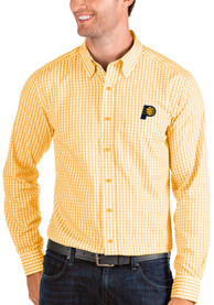 Indiana Pacers Antigua Structure Dress Shirt - Gold