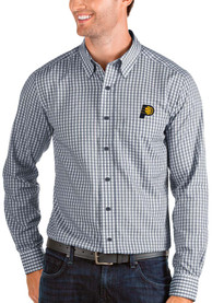 Indiana Pacers Antigua Structure Dress Shirt - Navy Blue