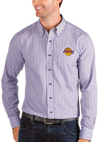 Los Angeles Lakers Antigua Structure Dress Shirt - Purple