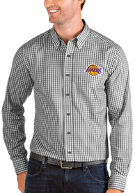 Los Angeles Lakers Antigua Structure Dress Shirt - Black
