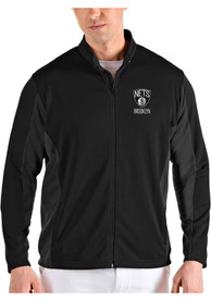 Brooklyn Nets Antigua Passage Medium Weight Jacket - Black