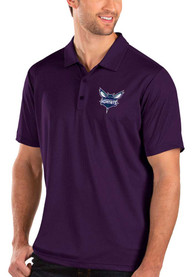 Charlotte Hornets Antigua Balance Polo Shirt - Purple
