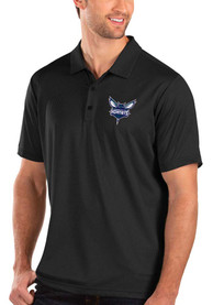 Charlotte Hornets Antigua Balance Polo Shirt - Black