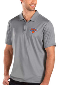Antigua New York Knicks Grey Balance Short Sleeve Polo Shirt