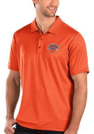 Antigua New York Knicks Orange Balance Short Sleeve Polo Shirt