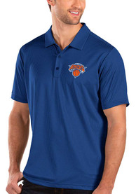Antigua New York Knicks Blue Balance Short Sleeve Polo Shirt