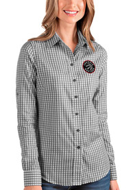 Toronto Raptors Womens Antigua Structure Dress Shirt - Black