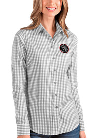 Toronto Raptors Womens Antigua Structure Dress Shirt - Grey