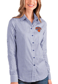 Antigua New York Knicks Womens Blue Structure Dress Shirt