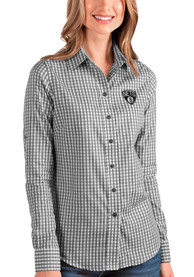 Brooklyn Nets Womens Antigua Structure Dress Shirt - Black