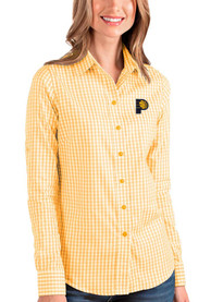Antigua Indiana Pacers Womens Gold Structure Dress Shirt