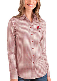 Houston Rockets Womens Antigua Structure Dress Shirt - Red