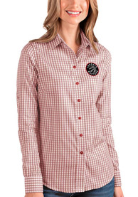 Toronto Raptors Womens Antigua Structure Dress Shirt - Red