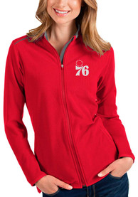 Philadelphia 76ers Womens Antigua Glacier Light Weight Jacket - Red