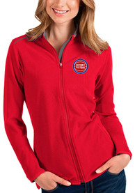 Detroit Pistons Womens Antigua Glacier Light Weight Jacket - Red