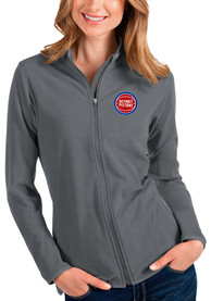 Detroit Pistons Womens Antigua Glacier Light Weight Jacket - Grey