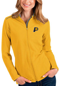 Indiana Pacers Womens Antigua Glacier Light Weight Jacket - Gold