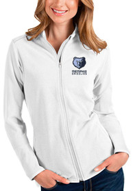 Memphis Grizzlies Womens Antigua Glacier Light Weight Jacket - White
