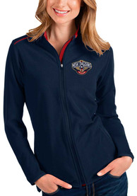 New Orleans Pelicans Womens Antigua Glacier Light Weight Jacket - Navy Blue
