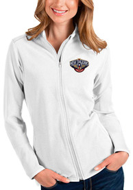 New Orleans Pelicans Womens Antigua Glacier Light Weight Jacket - White