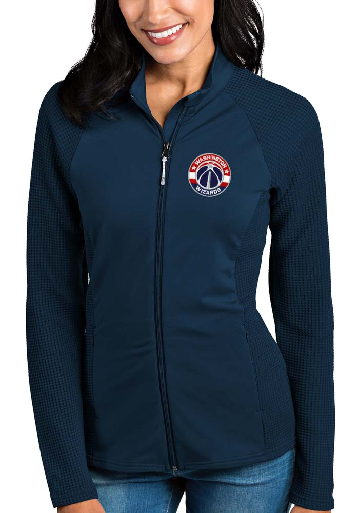 Antigua Washington Wizards Womens Navy Blue Sonar Light Weight Jacket - Image 1