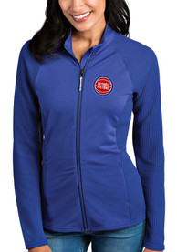 Detroit Pistons Womens Antigua Sonar Light Weight Jacket - Blue