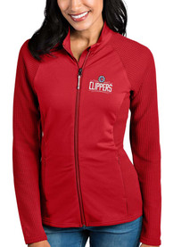 Antigua Los Angeles Clippers Womens Red Sonar Light Weight Jacket