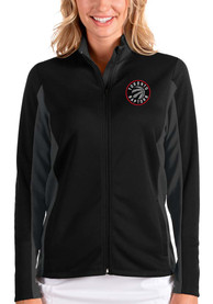 Toronto Raptors Womens Antigua Passage Medium Weight Jacket - Black