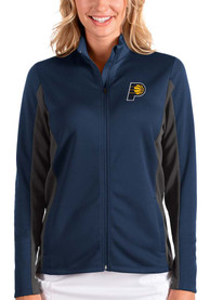 Indiana Pacers Womens Antigua Passage Medium Weight Jacket - Navy Blue