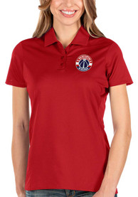 Washington Wizards Womens Antigua Balance Polo Shirt - Red