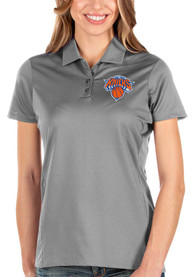 Antigua New York Knicks Womens Grey Balance Polo