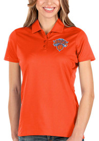 Antigua New York Knicks Womens Orange Balance Polo