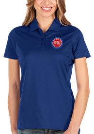 Detroit Pistons Womens Antigua Balance Polo Shirt - Blue