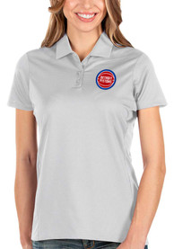 Detroit Pistons Womens Antigua Balance Polo Shirt - White