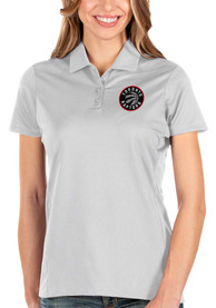 Toronto Raptors Womens Antigua Balance Polo Shirt - White