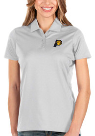 Indiana Pacers Womens Antigua Balance Polo Shirt - White