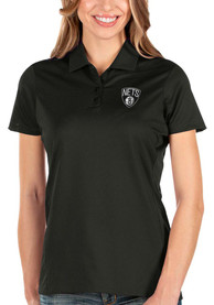 Brooklyn Nets Womens Antigua Balance Polo Shirt - Black