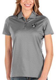 Brooklyn Nets Womens Antigua Balance Polo Shirt - Grey