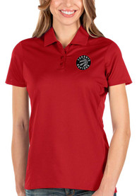 Toronto Raptors Womens Antigua Balance Polo Shirt - Red