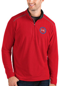 Detroit Pistons Antigua Glacier 1/4 Zip Pullover - Red