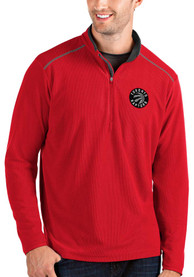 Toronto Raptors Antigua Glacier 1/4 Zip Pullover - Red