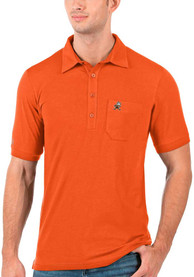 Antigua Cleveland Browns Orange Memento Short Sleeve Polo Shirt