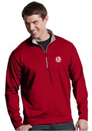 Antigua St Louis Cardinals Red Leader 1/4 Zip Pullover