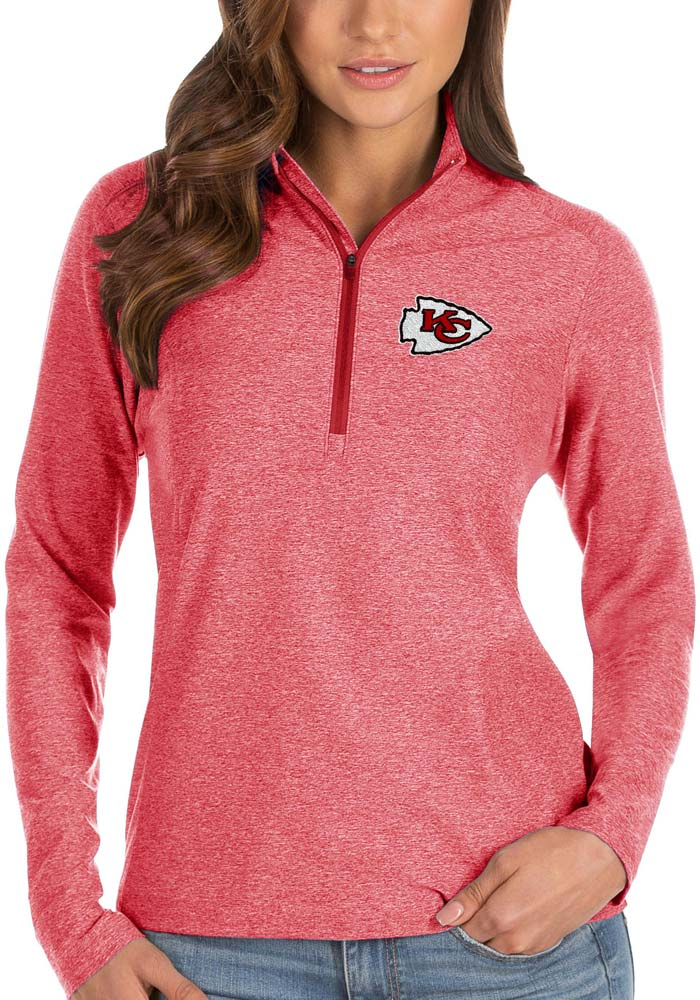 Antigua KC Chiefs Womens Red Spirit 1/4 Zip Pullover - Image 1