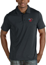 Antigua Wichita Wind Surge Navy Blue Quest Short Sleeve Polo Shirt