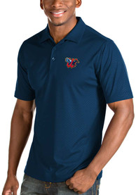 Antigua Wichita Wind Surge Navy Blue Inspire Short Sleeve Polo Shirt