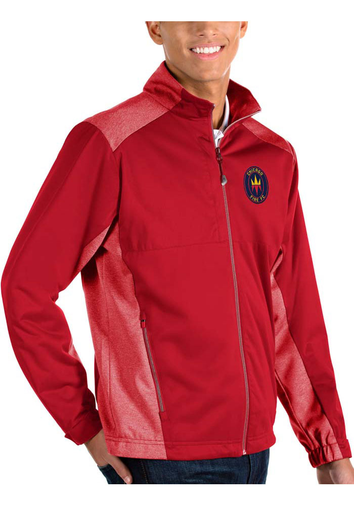 Antigua Chicago Fire Mens Red Revolve Light Weight Jacket - Image 1