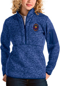 Chicago Fire Womens Antigua Fortune 1/4 Zip Pullover - Blue